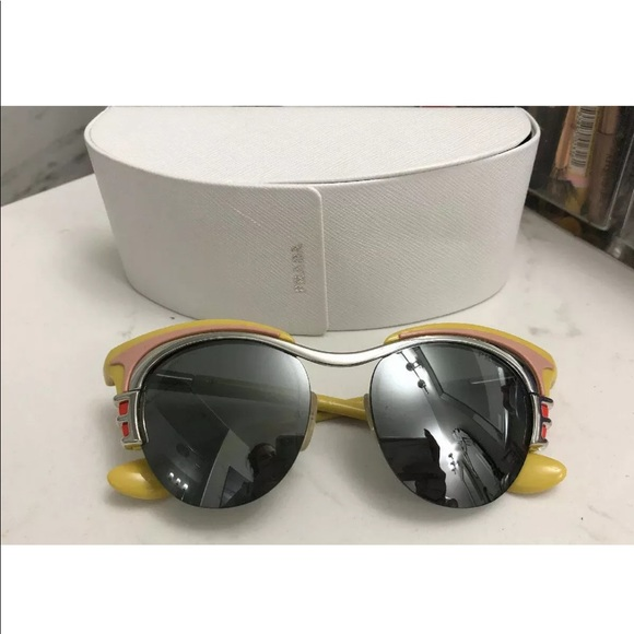 PRADA Dixie sunglasses (yellow) mirrored lens